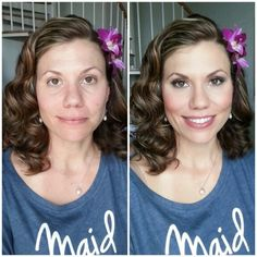 Airbrush makeup session by Gina Petersen