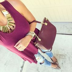 substantial necklace and wine