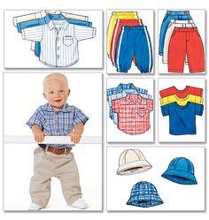 Butterick 5510 - Infants' Shirt, T-Shirt, Pants and Hat
