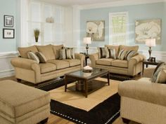 American Furniture Manufacturing 3700 Waverly Suede Living Room Set By Americ