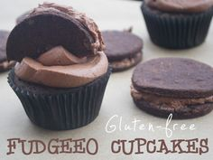 Gluten-Free Fudgeo Cupcakes from She Let Them Eat Cake