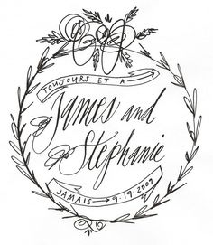 I'm loving the slightly quirky and completely beautiful calligraphy of Stephanie Fishwick. Her custom crests are some of my favorites! [images from Fishwick Design] Calligraphy Letters, Wedding Calligraphy, Modern Calligraphy, Beautiful Lettering, Beautiful Calligraphy, Typography Inspiration, Typography Design, Modern Wedding Invitations, Wedding Stationary