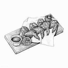 Hand-drawn chicken wings   premium image by rawpixel.com Wings Sketch, Wings Drawing, Chicken Drawing, Food Drawing, Chiken Wings, Chicken Illustration, Food Coloring Pages, Black And White Doodle, Food Doodles