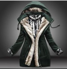 Detachable Plush Liner Thick Cotton Windbreaker Jacket Coat only ...