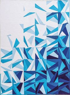 Icy Waters by Amy Garro.  The pattern for this modern quilt is in an upcoming book, Paper Pieced Modern