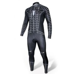 Spider-man Black Costume Cycling Kits Bicycle Suit Long Jersey - Cycling Suit-Campaign Categories - TopBuy.com.au