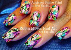 Abstract Rainbow Snake skin Print #nailart #nails #nail #art #howto #nailart #flowers #diy #design #tutorial #rainbow #snakeskin #snake #skin #print  #trendy #cute #fun #easy #simple #diy #summer