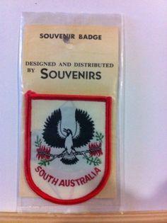 Vintage Souvenir Patch S.A. Piping Shrike