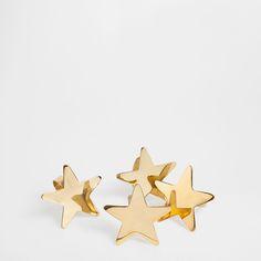 GOLDEN STAR NAPKIN RING (SET OF 4)