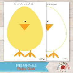 Free Fluffy Chick Easter Craft Activity by Busy Little Bugs