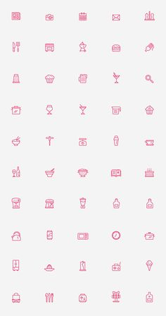 Kitchen Icons on Behance