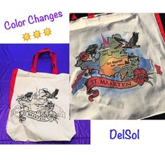 Del Sol Color Change in Sun  Tote Bag Changes to Colors in the Sun DelSol Bags