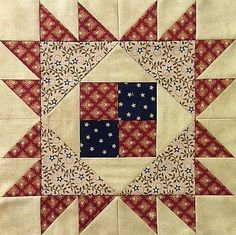 "Block #7 - Pattern is Hattie's Corner. Designed by Pamela Curo of Cotton Tales Patterns. Unfinished block is 9 1/2""."