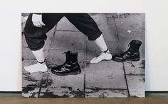 Mona Hatoum, Performance Still, 1985. Black-and-white photograph on aluminum,32⅝ x 43¼ inches. Hessel Museum of Art, Center for Curatorial Studies, Bard College, Annandale-on-Hudson, New York, Marieluise Hessel Collection