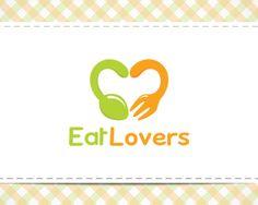 Duoble concept logo design: Eat Lovers #logodesign #eat #love #inspiration
