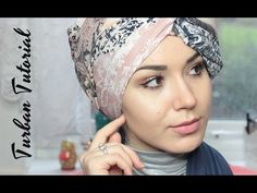 Turban Tutorial | Square Scarf side twist - YouTube