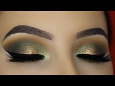 (1) Smokey Golden Olive Eye Makeup Tutorial - ABH Subculture Palette - YouTube