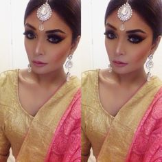 A look for wedding bridal or a glamorous chic look
