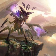 regram @daarken Eldrazi Displacer from Magic: The Gathering - Oath of the Gatewatch. #mtgogw #eldrazi #mtg