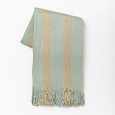 Softest Throw - Stripe | West Elm - Light pool $49
