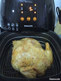 Did you know you can roast an ENTIRE chicken in the Airfryer, in half the time it takes in a conventional oven?
