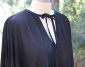 vintage black sheer circle dress
