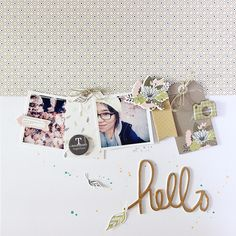 #Papercraft #scrapbook #layout. hello by Eyoung Lee at @studio_calico