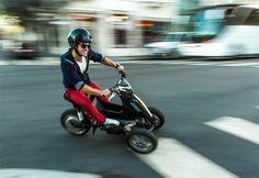 Sway unveils tilting threewheel escooter   Motorcycle   Car