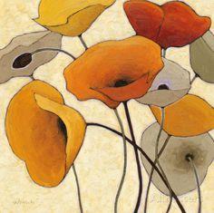 Pumpkin Poppies III Láminas por Shirley Novak en AllPosters.es