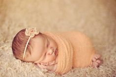 Newborn Headband & Baby Wrap Photography Prop SET, Swaddle Blanket Prop-OPen 4 Pictures-USEd By Kelly RYden via Etsy