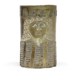 A very rare Staffordshire brown stoneware mug, circa 1710 Sold for £15,000