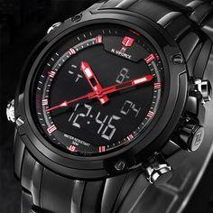 $44.18 (Buy here: https://alitems.com/g/1e8d114494ebda23ff8b16525dc3e8/?i=5&ulp=https%3A%2F%2Fwww.aliexpress.com%2Fitem%2FNAVIFORCE-Brand-Men-Stainless-Steel-Watch-Militay-Digital-LED-Multifunctional-Watches-Quartz-Sports-Auto-Date-Waterproof%2F32689349803.html ) Luxury Watch Men Style Stainless Steel Band Watch Sport Waterproof NAVIFORCE Fashion Military Digital LED Quartz Wristwatch LX22 for just $44.18