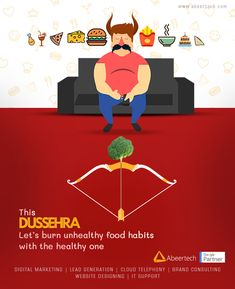 On this Dussehra, let's take an oath to ward off all our unhealthy eating habits with the healthy one. Ads Creative, Creative Posters, Creative Advertising, Creative Crafts, Creative Design, Homemade Fathers Day Card, Happy Dussehra Wishes, Happy Employees, Digital Campaign