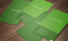coloful-green-card-template