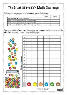 $2 The Great M&M Math Challenge! from Creative Classroom on TeachersNotebook.com (16 pages)