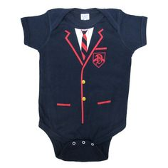 Glee Dalton Academy Warblers Uniform Snapsuit [Whenever I have kids, I want one of these!]
