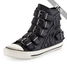 Ash Venin Fringe Buckle Sneaker