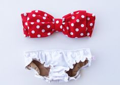 Bow bathing suit-looks like Mini Mouse!