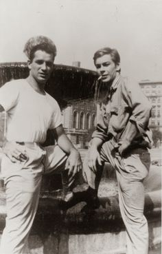 Jack Kerouac and Lucien Carr on the Columbia University Campus, New York by Allen Ginsberg, 1944 Lucien Carr, Generation Pictures, Hot Guys Smoking, Kill Your Darlings, Dane Dehaan, Allen Ginsberg, Beat Generation, Jack Kerouac, Idole