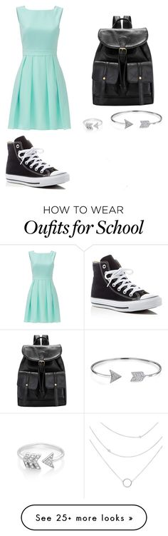 """""""School outfit"""" by zain-mjalli on Polyvore featuring Converse, Kate Spade, EF Collection and Bling Jewelry"""