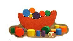 Holzspielzeug - BALANCESPIEL Holz 20 tlg. Motorik - Konzentration - ein Designerstück von Holzsachen-Kaden bei DaWanda