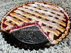 Tarta cu gem Linzer torte in tava Grill Pan, Linzer Torte, Grilling, Food And Drink, Desserts, Sweets, Marmalade, Pies, Postres