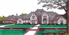 Pretty great...Elevation of European   French Country   House Plan 92228