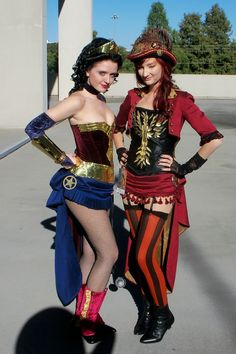Steampunk Wonder Woman and Phoenix