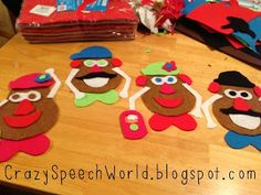 DIY Potato People for Speech!  - Pinned by @PediaStaff – Please Visit ht.ly/63sNtfor all our pediatric therapy pins