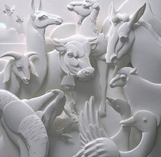 paper cut animals - amazing!