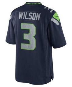Nike Men's Russell Wilson Seattle Seahawks Limited Jersey - Blue 2XL
