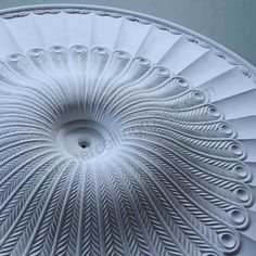 Extra Large Georgian Plaster Ceiling Rose 1300MM LPR050 a volcano of peacock feathers. #plasterceilingroses