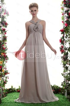 Robe Demoiselle d'Honneur A-ligne Bretelle en V Longueur Ras du   (Livraison gratuite)