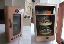 Vintage Tinplate Toy Refridgerator/ Fridge by MK Japan